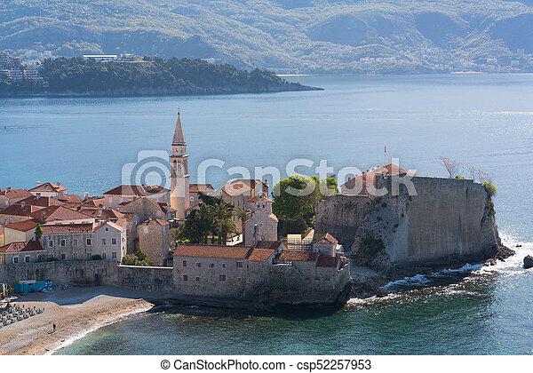 view to the Old Town of Budva - csp52257953