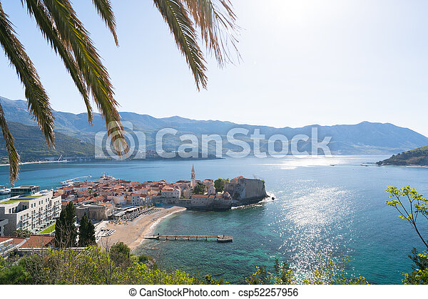view to the Old Town of Budva - csp52257956