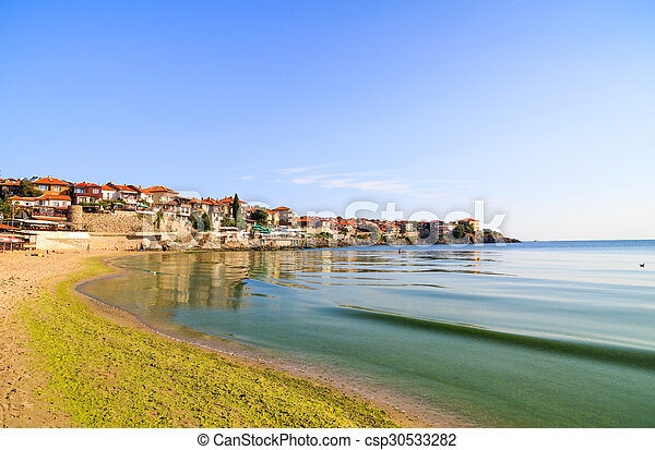 View to the old town of Sozopol, Bulgaria - csp30533282