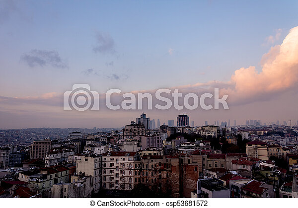 View to the urban part of the Istanbul city - csp53681572