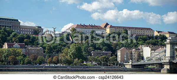View towards the Castle area of Budapest - csp24126643