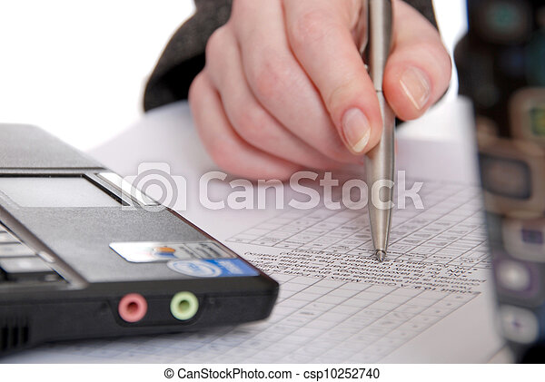Viewing business papers - csp10252740