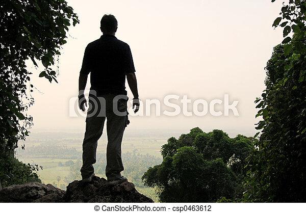 Viewpoint silhouette - csp0463612
