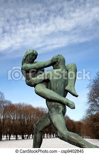 Vigeland park in Oslo, Norway - csp9402845