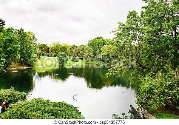 Vigeland park in Oslo - csp54357775