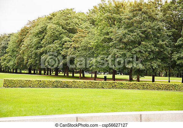 Vigeland park in Oslo - csp56627127