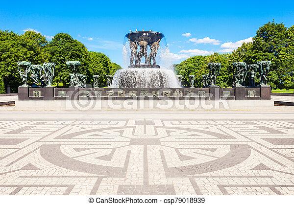 Vigeland sculpture park, Oslo - csp79018939