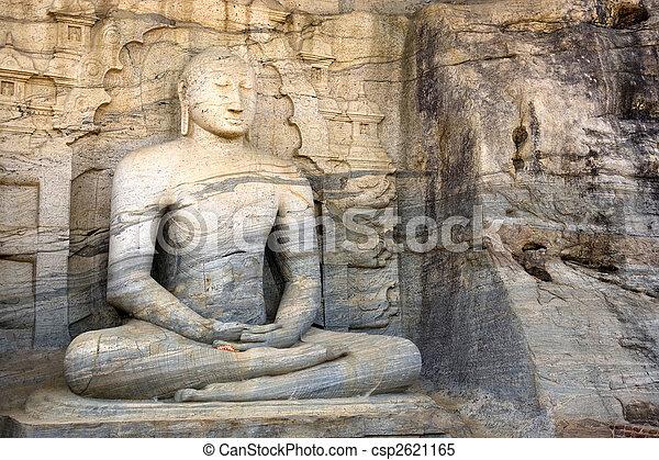 Gal vihara, polonnaruwa, sri lanka - csp2621165