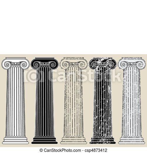 vijf, kolommen - csp4873412