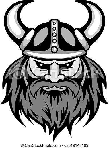 Viking ancien viking t te ancien mascot - Dessin de viking ...