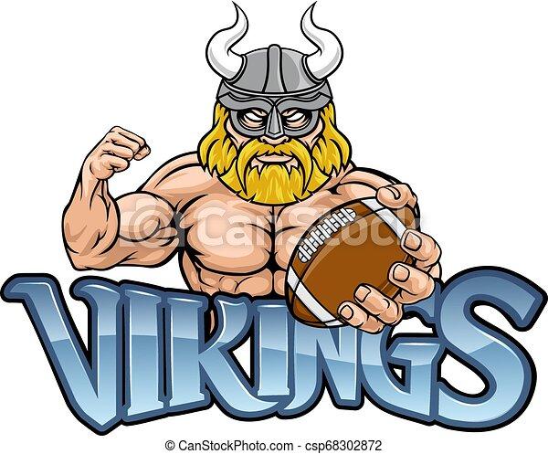 La mascota del fútbol americano vikingo - csp68302872