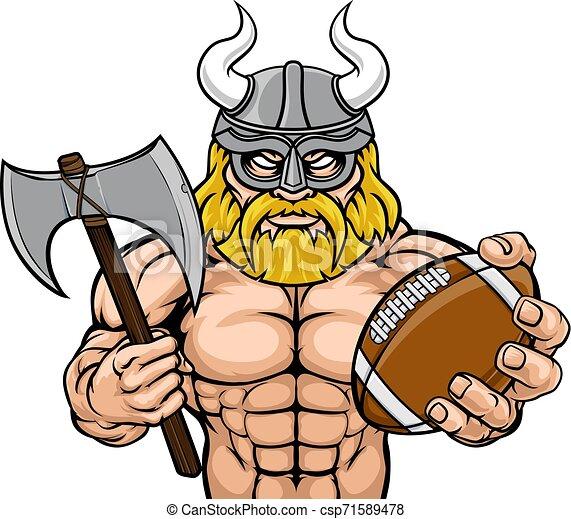 La mascota del fútbol americano vikingo - csp71589478