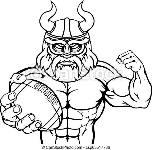 La mascota del fútbol americano vikingo - csp65517736