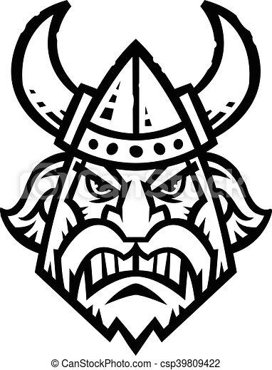 Viking dessin anim casque viking cornu vecteur - Dessin de viking ...