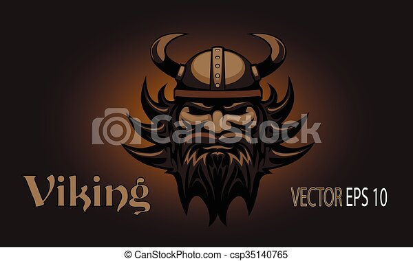 Viking head. Tattoo - csp35140765