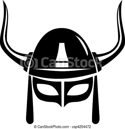viking helmet vector - csp4254472