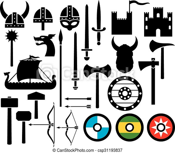 viking icons collection - csp31193837