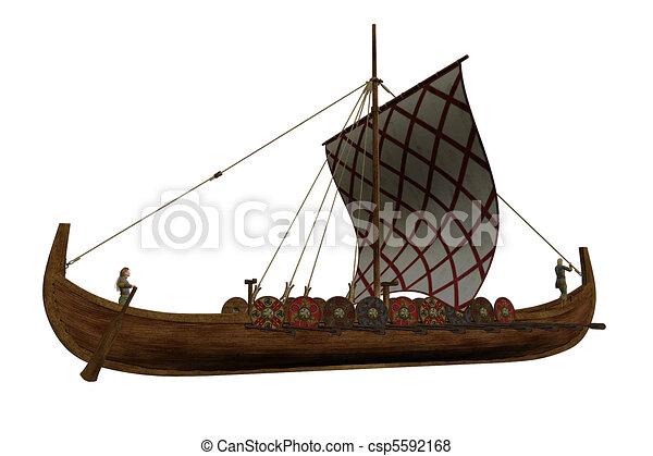 Viking Longship - csp5592168