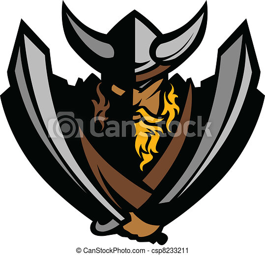 Viking Norseman Mascot Graphic with - csp8233211