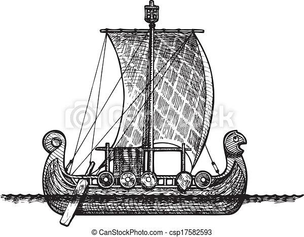Viking ship - csp17582593