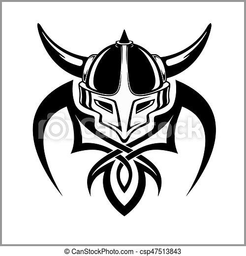 Viking Warrior Emblem - csp47513843