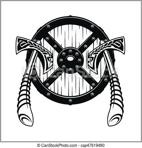 Viking Warrior Emblem - csp47619480