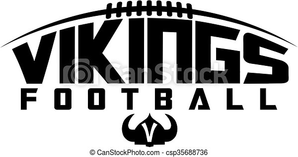 vikings football team design with laces and helmet for school