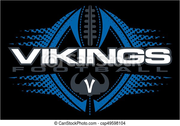 vikings football - csp49598104