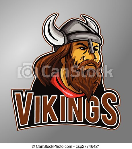 vikings, mascote - csp27746421
