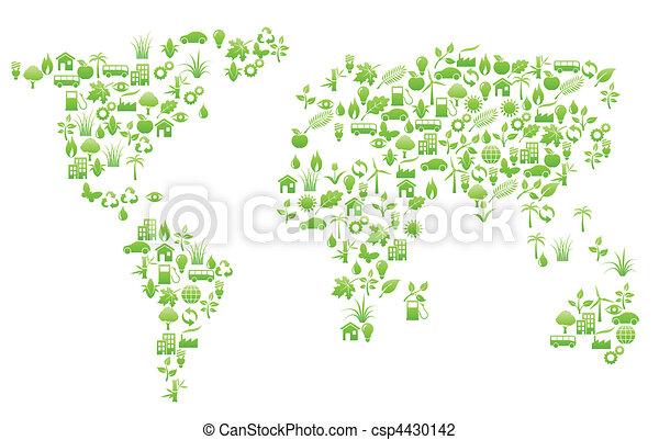 világ, alakít, térkép - csp4430142