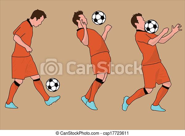 világ, futball, árnykép, csésze, játékosok - csp17723611