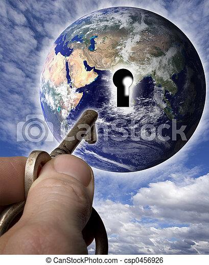 világ, kulcs - csp0456926
