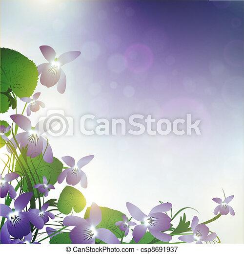 vild blommar, violett - csp8691937