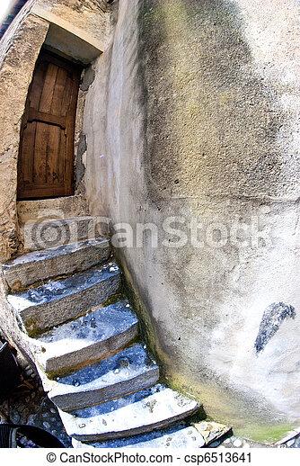 Village Detail in Corsica - csp6513641