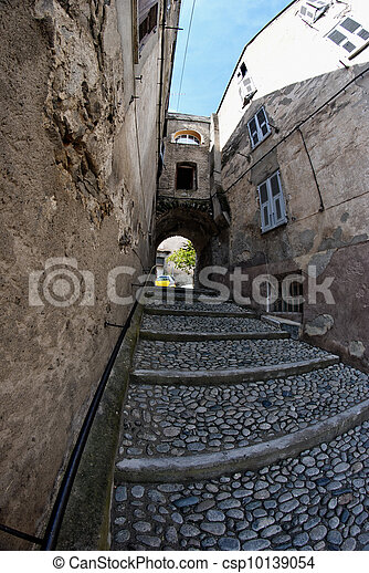 Village Detail in Corsica - csp10139054
