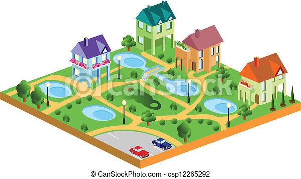 village houses - csp12265292