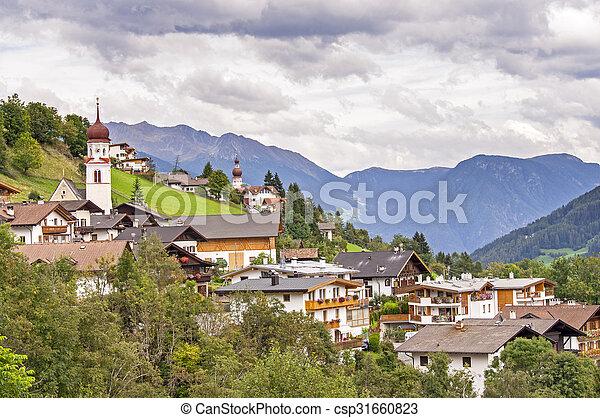 Village in Alps - csp31660823