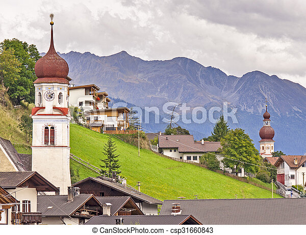 Village in Alps - csp31660843