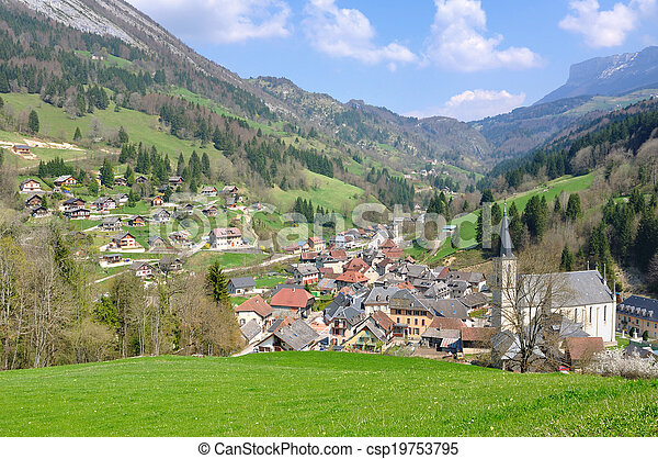 village in Chartreuse (France) - csp19753795