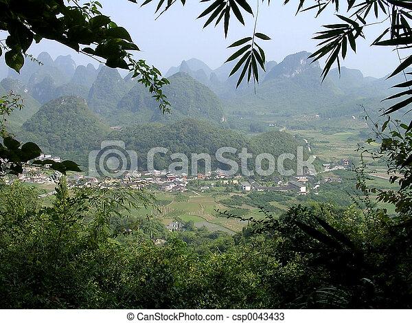 Village in China - csp0043433