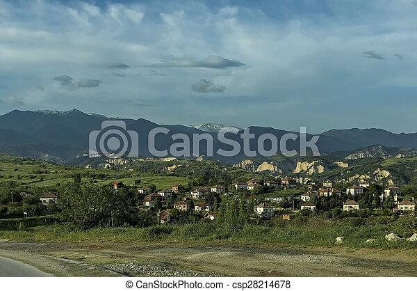Village in the wine making region - csp28214678
