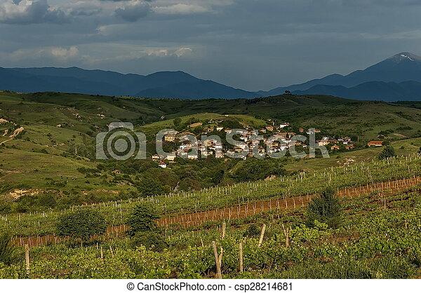 Village in the wine making region - csp28214681