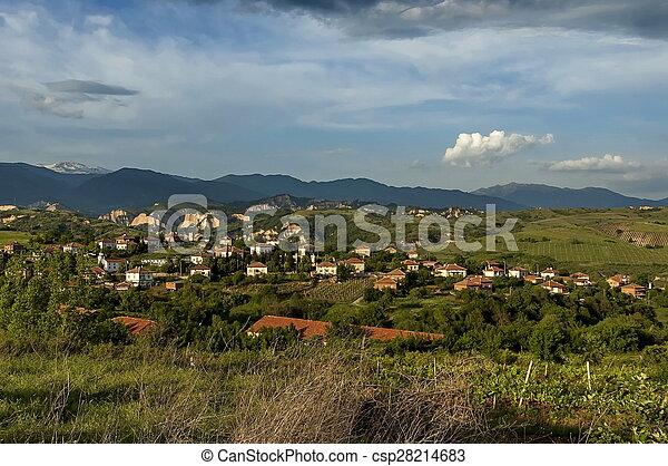 Village in the wine making region - csp28214683