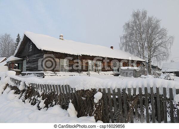 village in winter - csp16029856