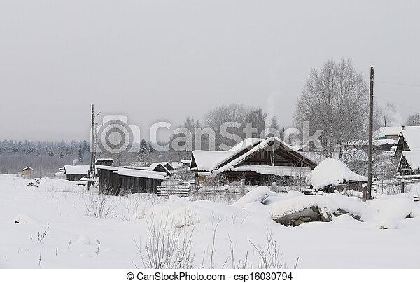 village in winter - csp16030794