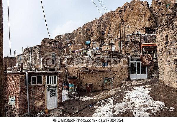 Village Kandovan, Iran - csp17384354