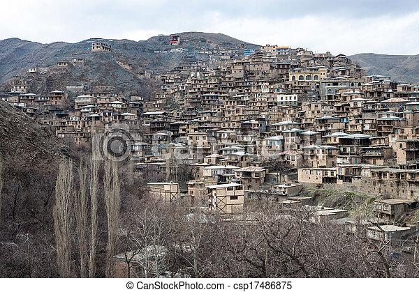 Village Kang in mountains near Mashhad, Iran - csp17486875