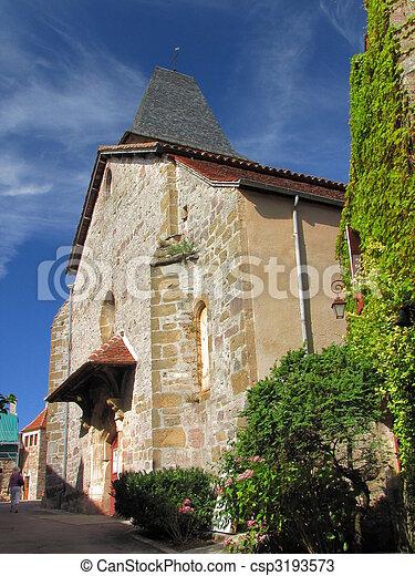 Village Loubressac, church, - csp3193573