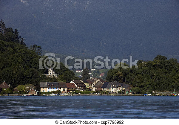 Village of Duingt at Annecy lake - csp7798992