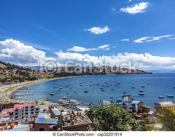 village of Juli at lake Titicaca - csp32201914